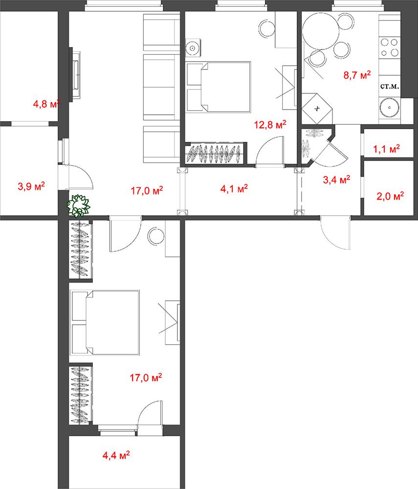 Перепланировка квартиры - Обсуждение на форуме НГСДом