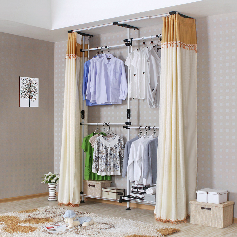 korean-steel-storage-cabinet-cloth-font-b-wardrobe-b-font-closet-storage-assembly-simple-steel-reinforcement
