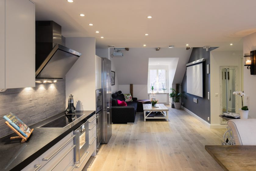 apartments-elegant-small-one-bedroom-modern-attic-apartment-with-and-couches-black-velvet_compact-apartment-design_apartment_loft-apartment-design-small-studio-kitchen-your-own-apartments-interior-dis