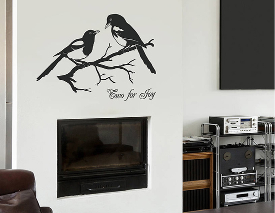 Magpies-Two-For-Joy-Vinyl-Wall-Sticker
