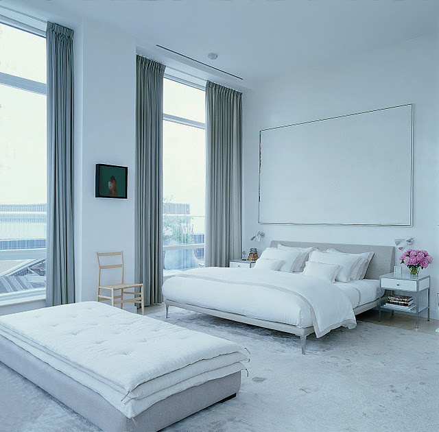 selldorf architects city loft bedroom all white modern clean simple cococozy