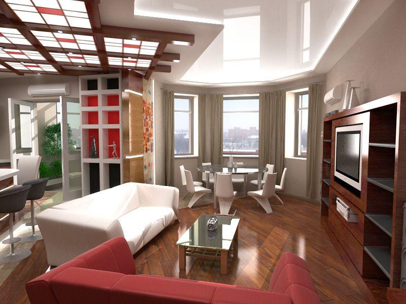 интерьер кухни гостиной столовой в классическом стиле в доме с